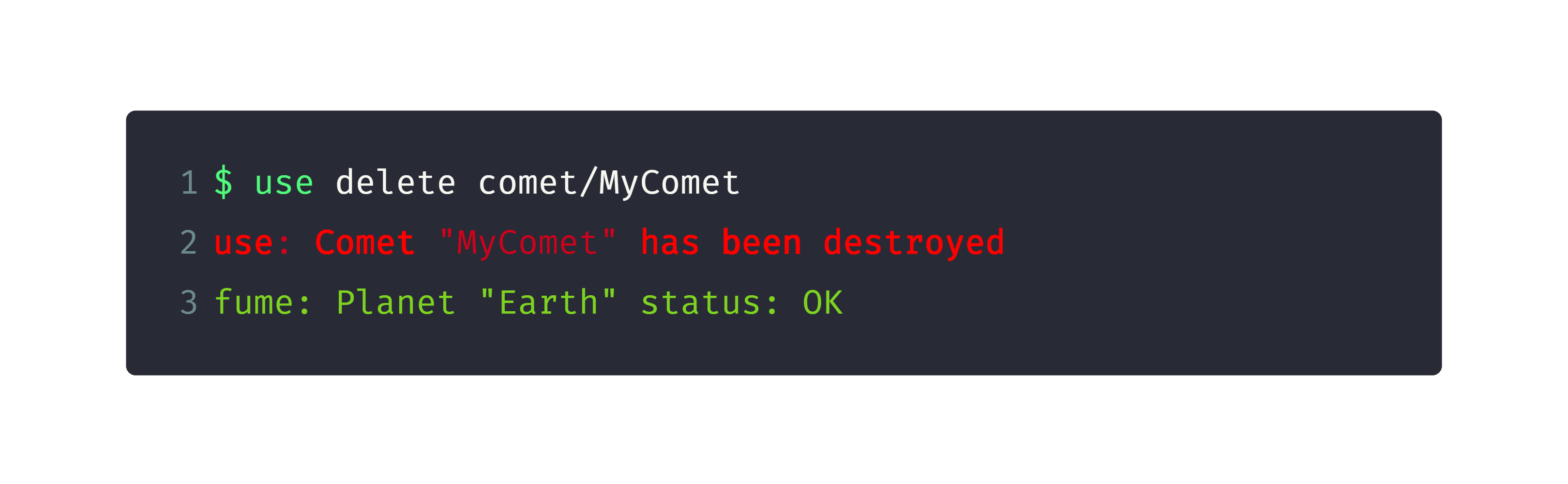 delete comet manually